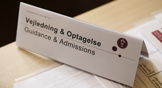Guidance and Admission sign